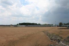 Represa de Kallanai uma represa antiga em Tiruchirappalli, Tamil Nadu, Índia imagem de stock royalty free