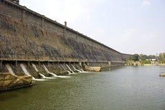 Represa de Krishnarajsagar imagens de stock