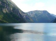 Represa de Noruega Zakariasdammen Fotografia de Stock