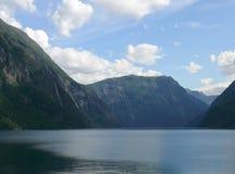 Represa de Noruega Zakariasdammen Foto de Stock Royalty Free