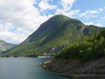 Represa de Noruega Zakariasdammen Imagem de Stock Royalty Free