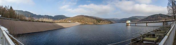 Represa de Obernau na vista panorâmica de Alemanha imagem de stock