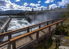 A represa de Post Falls negligencia fotos de stock royalty free