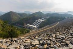 A represa de Srinagarind Foto de Stock