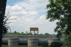 Represa de Ubonrat, Khonkaen, Tailândia Fotografia de Stock