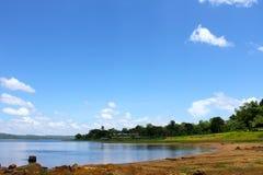 Represa do rio Imagem de Stock