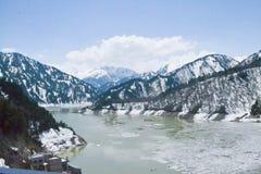 Represa do rio em Japão Fotografia de Stock Royalty Free