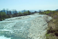 Represa do rio em Japão Imagem de Stock Royalty Free
