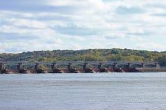 Represa do rio Mississípi Foto de Stock Royalty Free