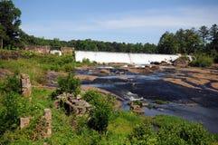 Represa elevada das quedas Foto de Stock