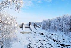 Represa em Imatra, Finlandia Imagens de Stock
