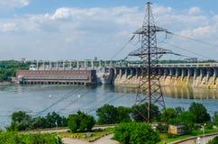 Represa Hydroelectric Foto de Stock Royalty Free