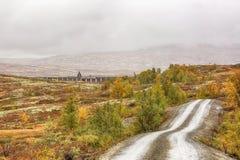 Represa no lago Stor Sverje, Noruega fotos de stock