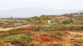 Represa no lago Stor Sverje, Noruega fotografia de stock royalty free