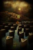A represa no rio imagens de stock