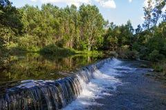 Represa pequena no rio Imagem de Stock