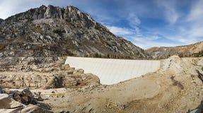 Represa sul do lago sem a água Fotografia de Stock Royalty Free
