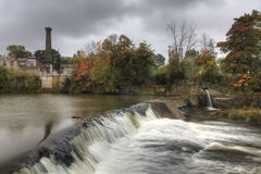 A represa velha em Elora, Canadá Imagens de Stock