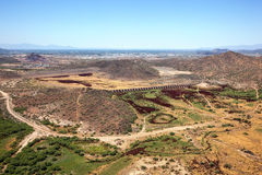 Represas no deserto fotografia de stock royalty free