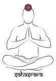 Representação do chakra de Sahasrara ilustração royalty free