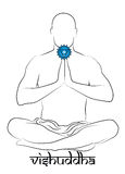 Representação do chakra de Vishuddha Imagens de Stock Royalty Free