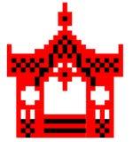 Representação esquemática do vetor do miradouro de Sumy Imagem de Stock