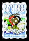 Representação simbólica, 10o aniversário do Sandinista Revo Imagem de Stock