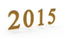 Representa el Año Nuevo 2015 Imagen de archivo libre de regalías