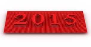 Representa o ano novo 2015 Fotografia de Stock