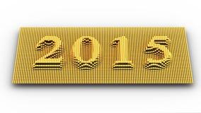 Representa o ano novo 2015 Imagem de Stock Royalty Free