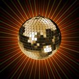 representación 3d de la bola del espejo del disco Fotografía de archivo libre de regalías