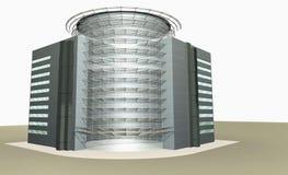 representación 3D del edificio moderno Imagenes de archivo