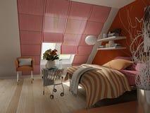 representación 3D del interior casero stock de ilustración