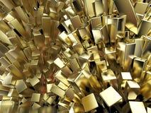 Representación abstracta cristalina cúbica del fondo del metal brillante brillante stock de ilustración