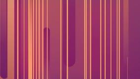 Representación abstracta 3d de formas geométricas coloreadas Animación generada por ordenador del lazo Líneas geométricas modelo  stock de ilustración