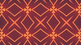 Representación abstracta 3d de formas geométricas coloreadas Animación generada por ordenador del lazo Modelo geométrico del movi stock de ilustración