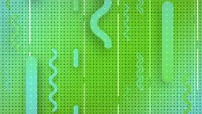 Representación abstracta 3d de formas geométricas coloreadas Animación generada por ordenador Modelo geométrico 4k UHD ilustración del vector