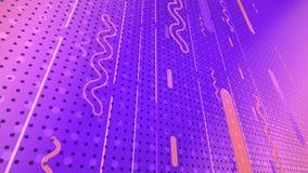 Representación abstracta 3d de formas geométricas coloreadas Animación generada por ordenador Modelo geométrico 4k UHD libre illustration