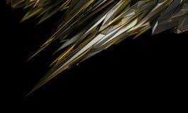 Representación abstracta 3D de la forma poligonal Imágenes de archivo libres de regalías