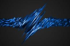 Representación abstracta 3D de la forma poligonal Fotografía de archivo libre de regalías