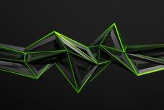 Representación abstracta 3D de la forma poligonal Fotografía de archivo
