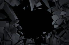 Representación abstracta 3D de la superficie agrietada Imagenes de archivo