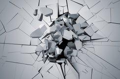 Representación abstracta 3D de la superficie agrietada Fotos de archivo