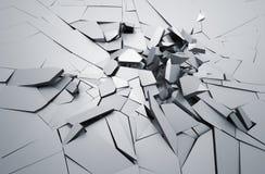 Representación abstracta 3D de la superficie agrietada Imágenes de archivo libres de regalías
