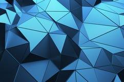 Representación abstracta 3D de la superficie polivinílica baja Fotografía de archivo libre de regalías