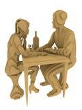 Representación abstracta de Art Plywood 3d de la gente Imagen de archivo libre de regalías