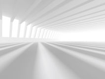 Representación blanca vacía del espacio abierto 3D Foto de archivo libre de regalías