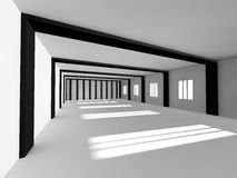 Representación blanca vacía del espacio abierto 3D Fotos de archivo