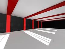 Representación blanca vacía del espacio abierto 3D Fotografía de archivo