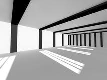Representación blanca vacía del espacio abierto 3D Imagen de archivo libre de regalías
